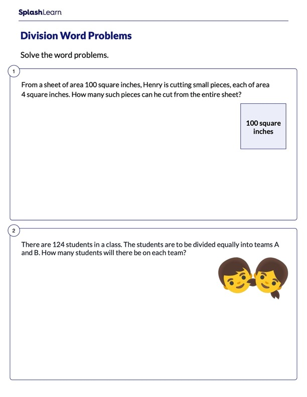 Solving Word Problems on Division