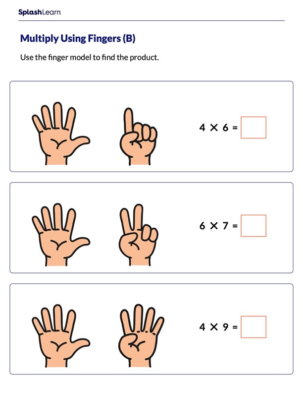 Find Product Using Fingers