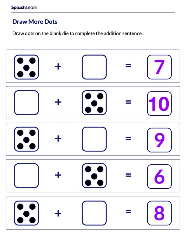 Complete the Dice Pattern
