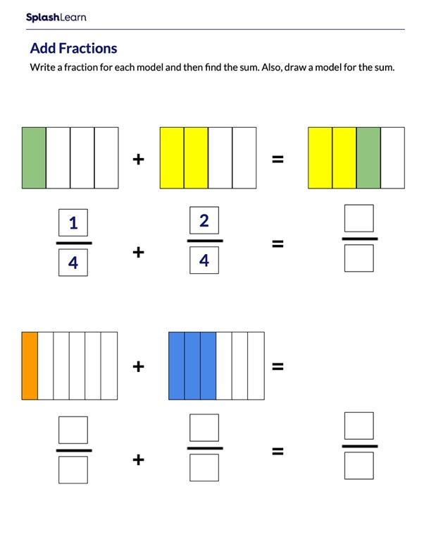 Adding Fractions Using Models