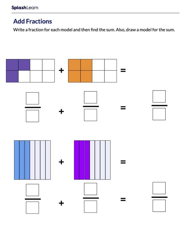 Add Fractions Using Fraction Models