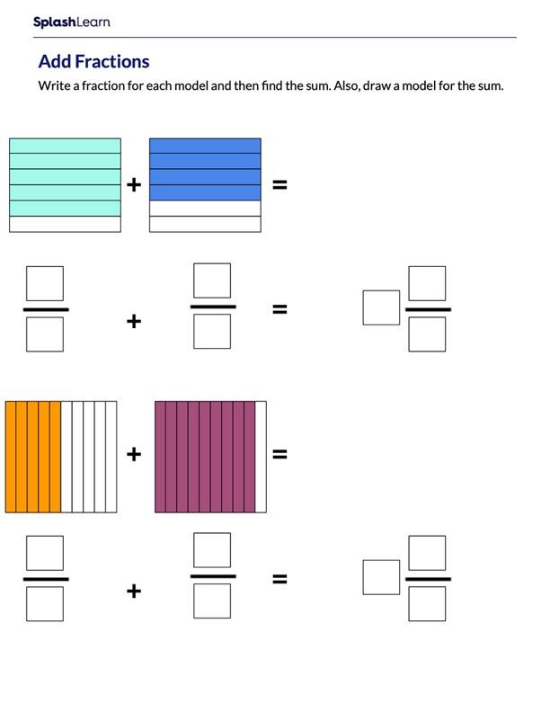 Add Fractions Using Visual Models