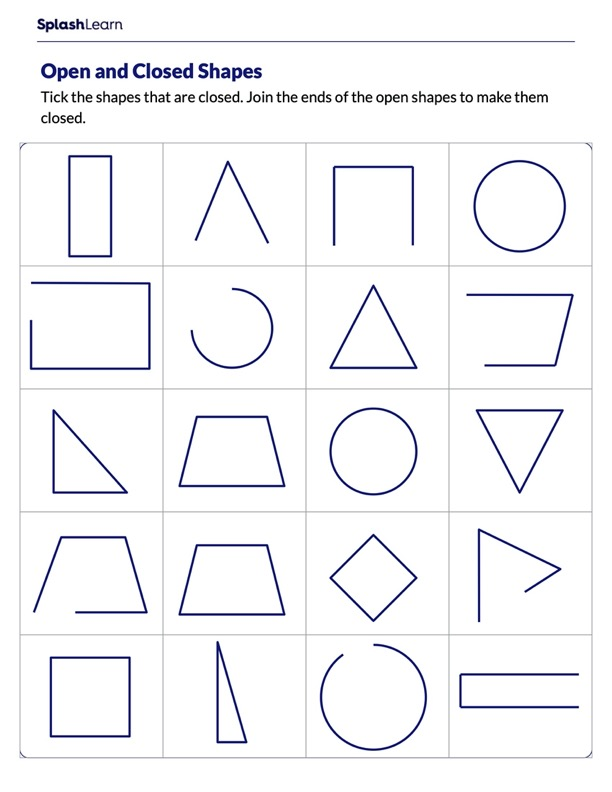 Identify Open and Closed Shapes