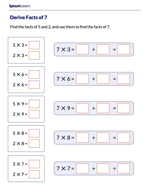 Derive Multiplication Facts of 7