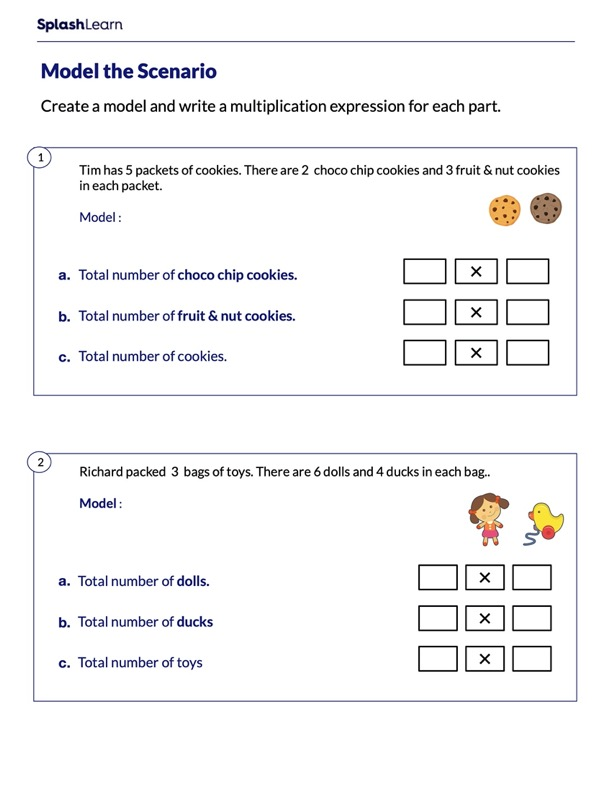 Model the Multiplication Expression