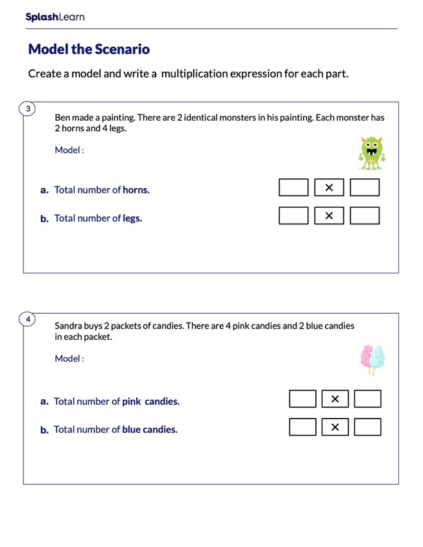 Model and Create the Multiplication Expression