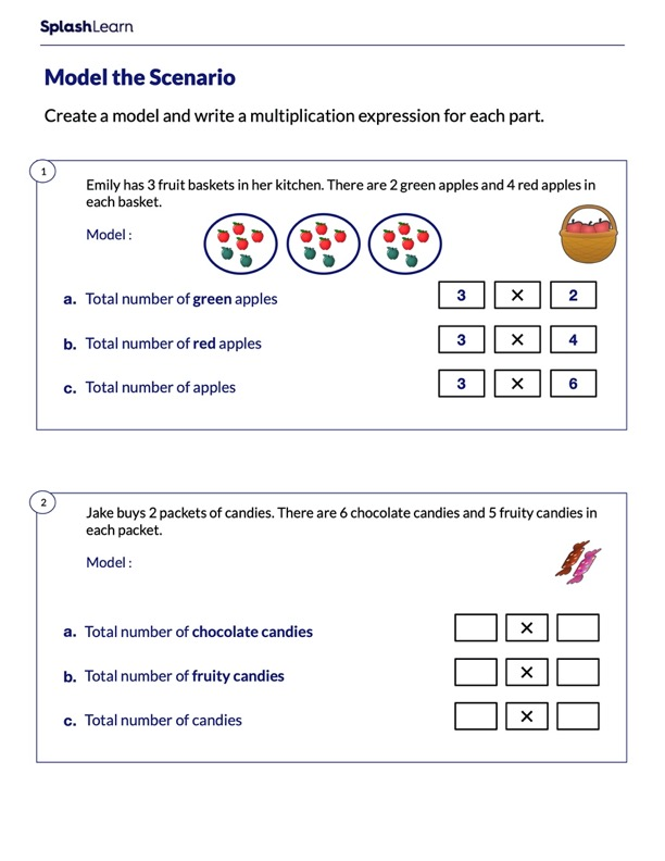 Model and Write the Multiplication Expression