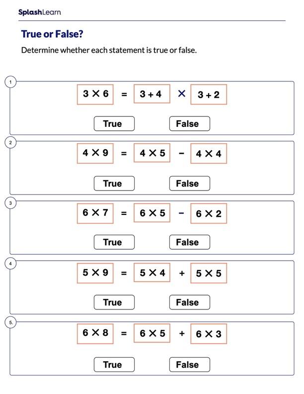 Identify the Equation as True or False