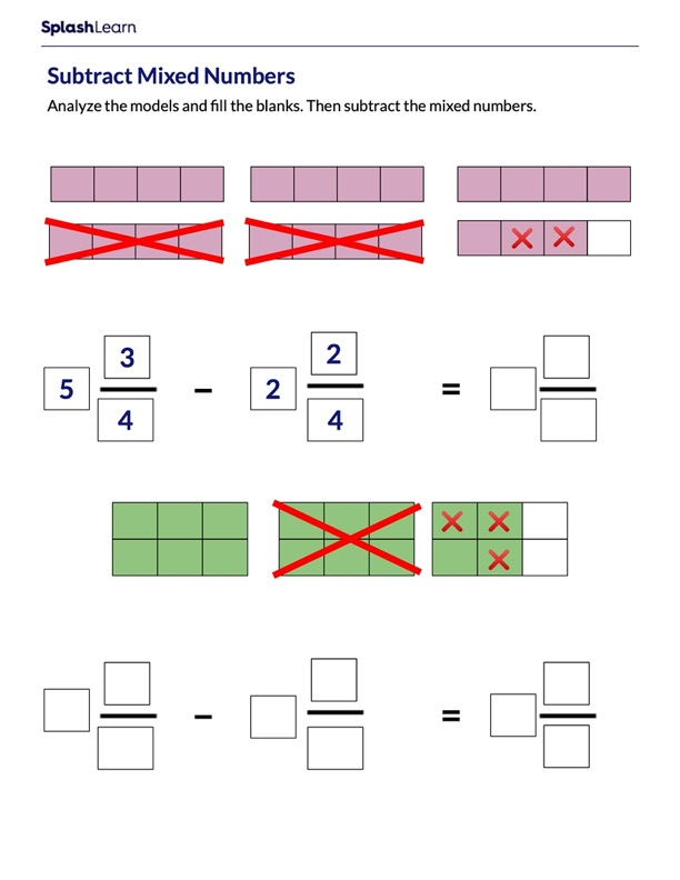 Subtraction of Mixed Numbers