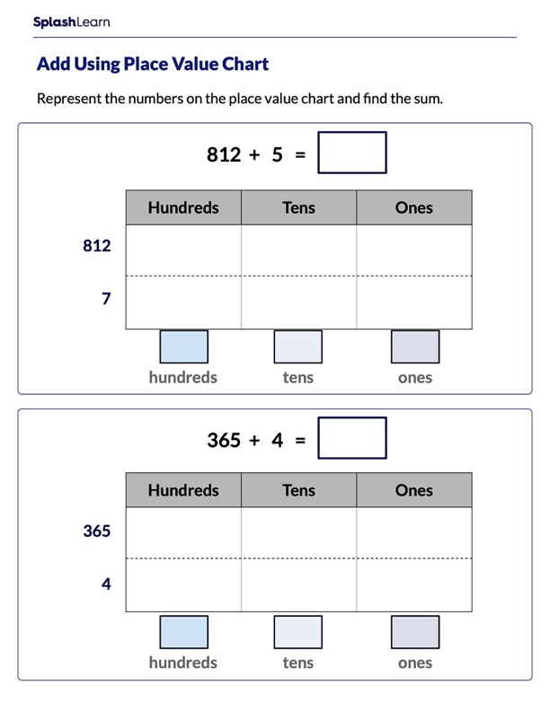 Add 3-Digit and 1-Digit Numbers Using Place Value