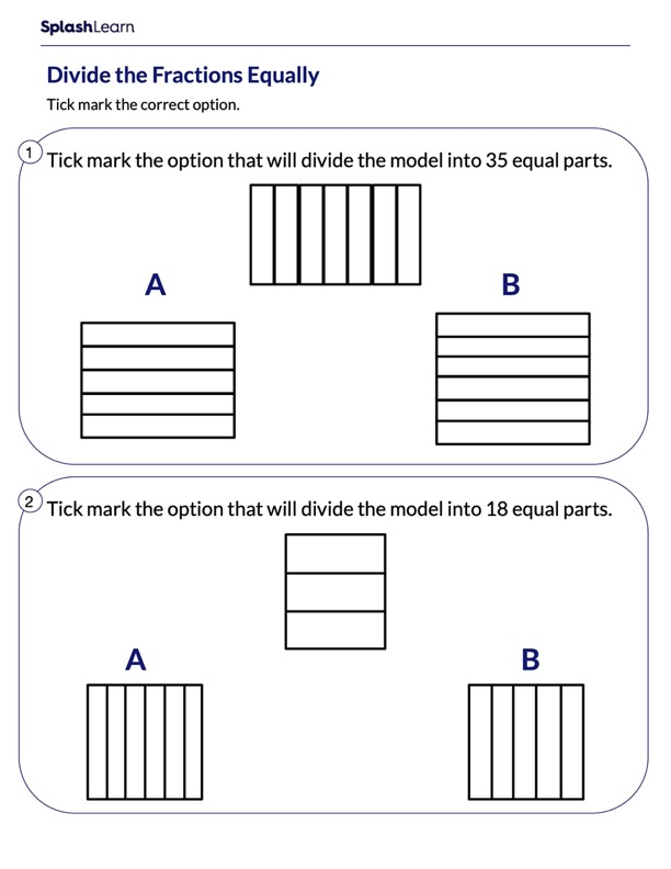 Divide the Model Into Equal Parts