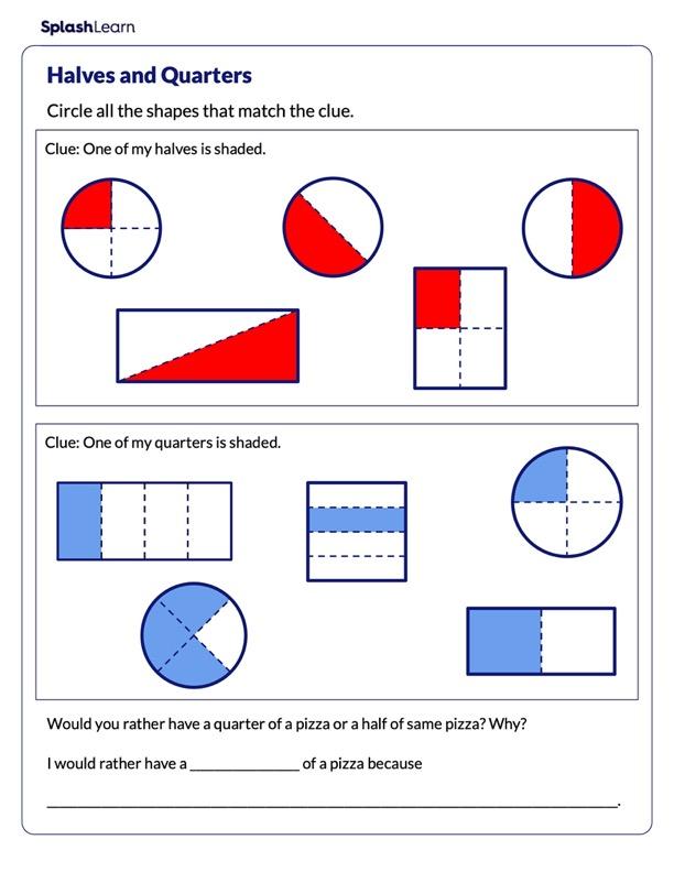 Identify Halves and Quarters