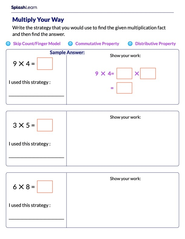 Choose Your own Multiplication Strategy
