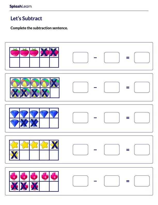 Subtraction on 10-frames