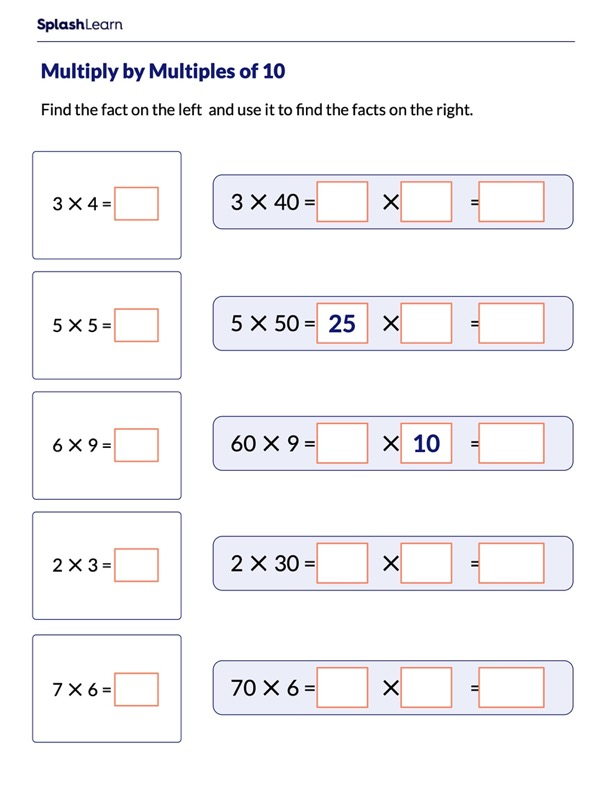 Find Facts Using Multiples of 10