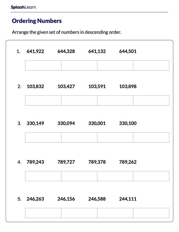 Arrange Numbers in Descending Order