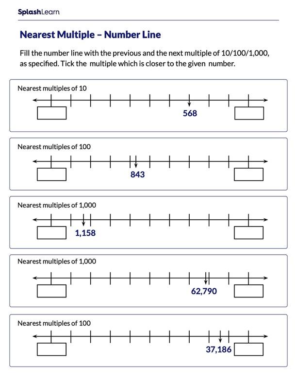 Mark the Nearest Multiple of 10/100/1000