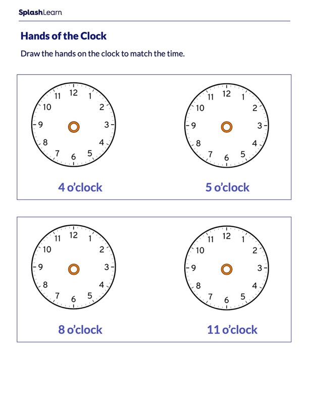 Draw Hands of the Clock