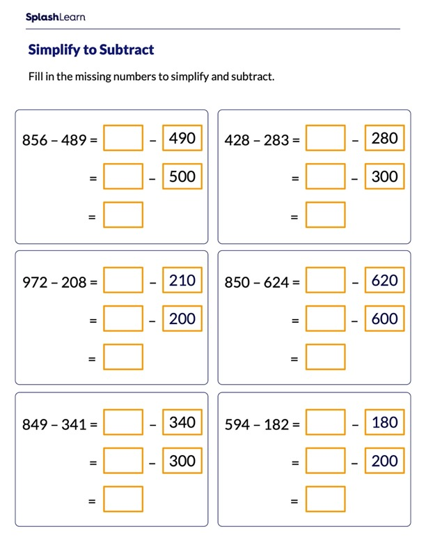 Subtract by Making Multiples of 100