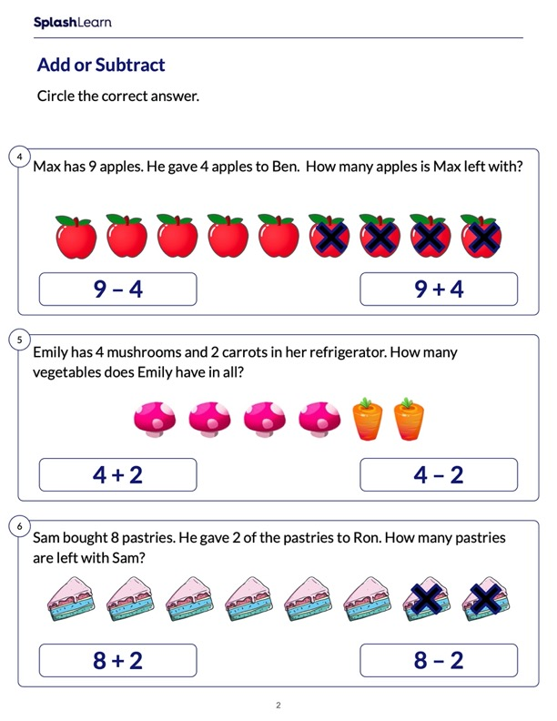 Identify Math Expression for Word Problems
