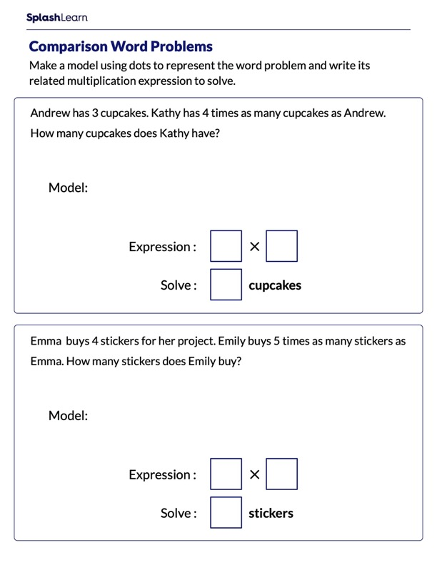 Word Problems on Comparison
