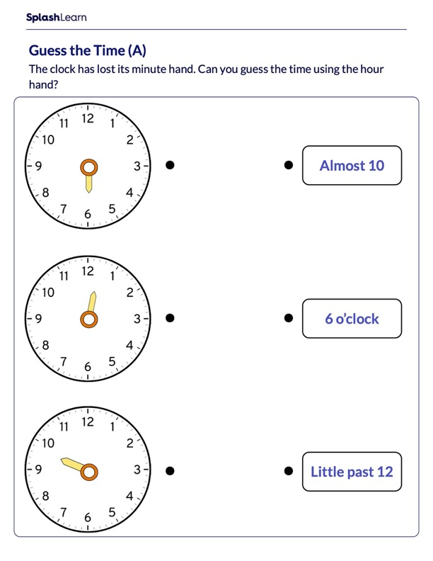 Guess the Time of the Clock