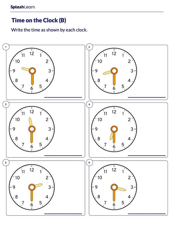 Write Time as Half Past