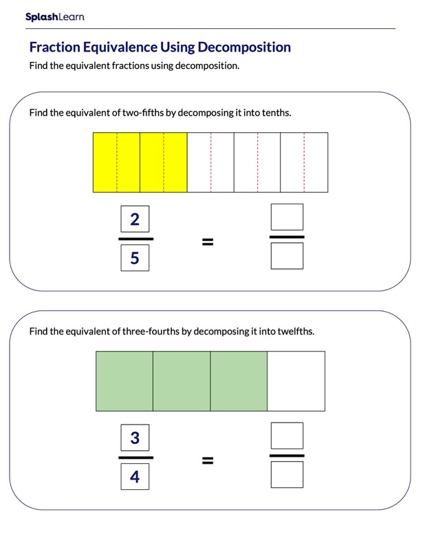 Create Equivalent Fractions using Area Model