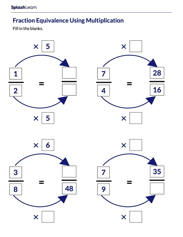 Create Equivalent Fractions using Multiplication