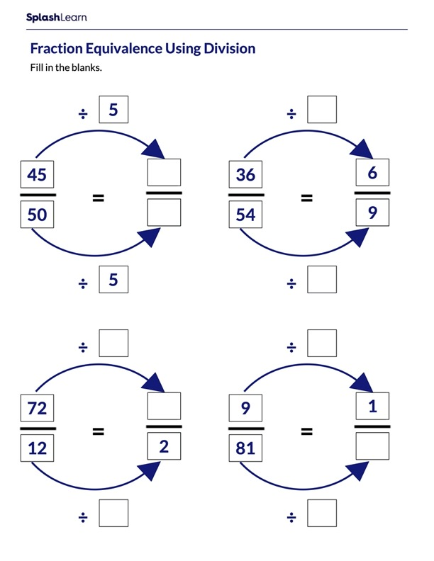 Create Equivalent Fractions using Division