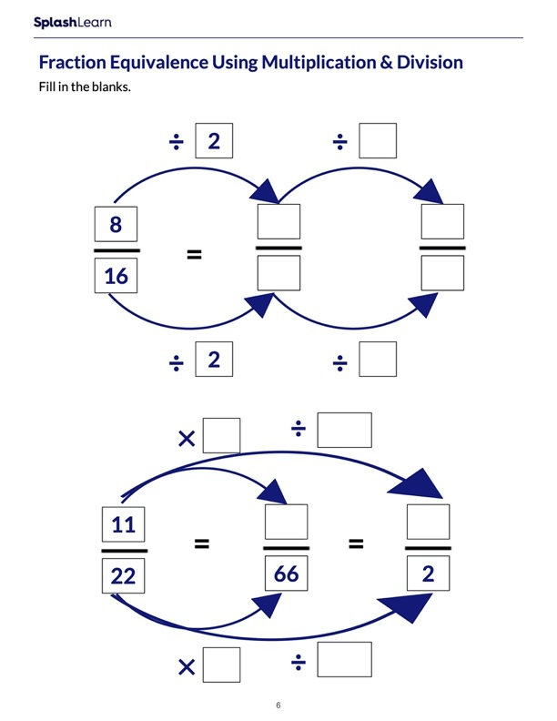 Multiply or Divide to Create Equivalent Fractions