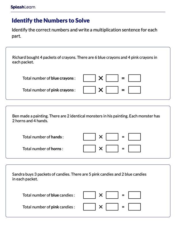 Express Using Multiplication Sentences