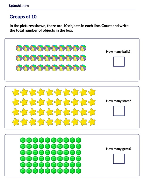 Count the Objects in Groups of 10