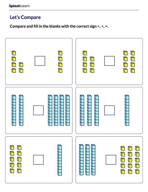 Compare Using Base-10 Blocks