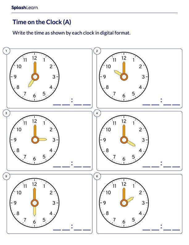 Write Time in Digital Format