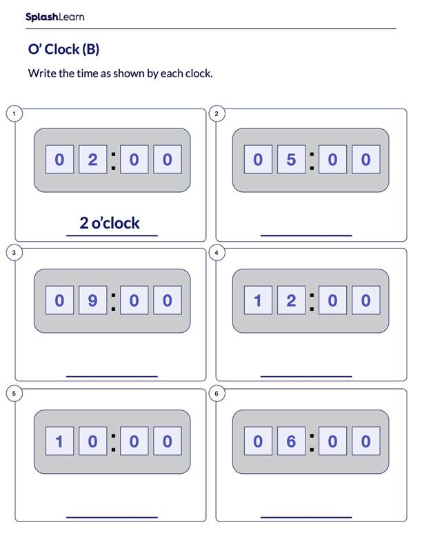 Write Time using