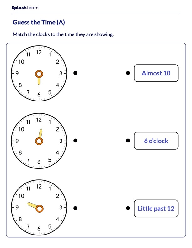 Read Time Using Hour Hand