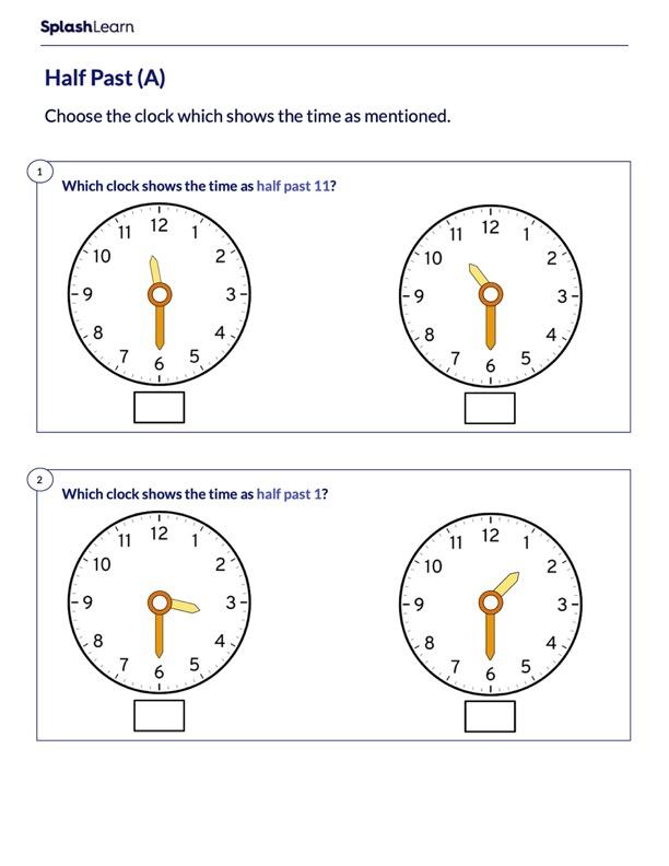 Half Past on Analog Clock