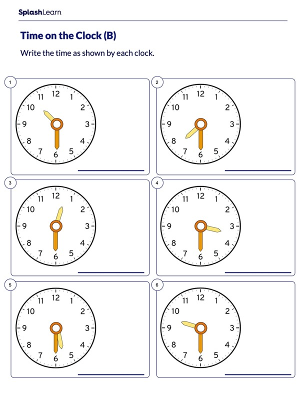 Half Hour on Analog Clock