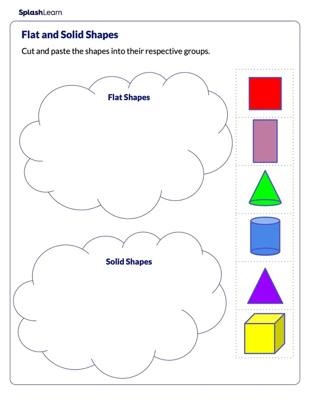 Classify Shapes as Flats or Solids