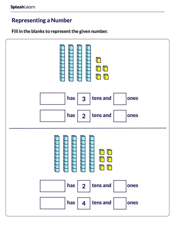 Representing Number by Base-10 Blocks