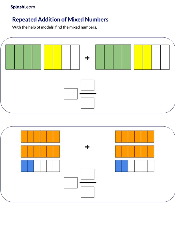 Adding Mixed Numbers using Models