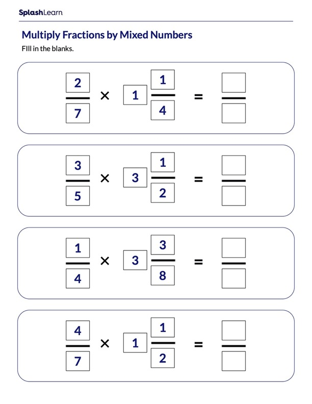 Multiplying Fractions by Mixed Numbers