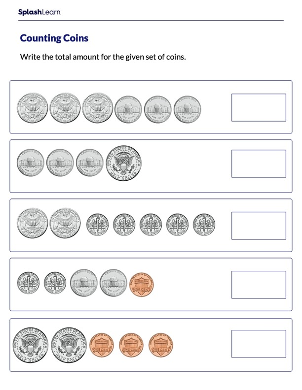 Guess the Amount Using Different Types of Coins
