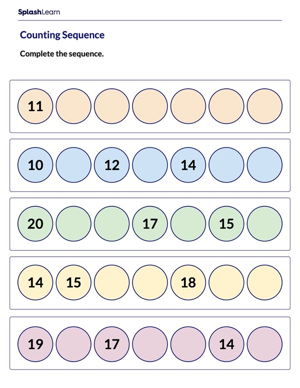 Counting Sequence Worksheet
