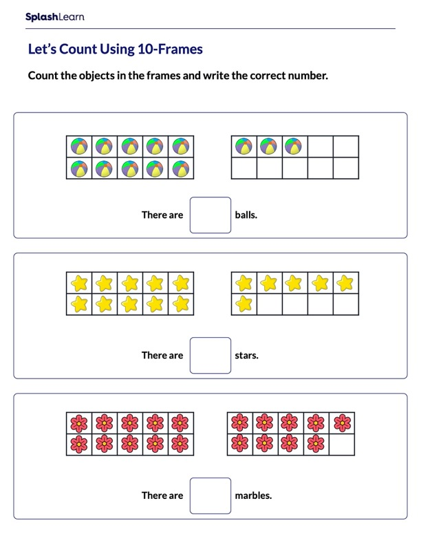 Counting Using 10-frames