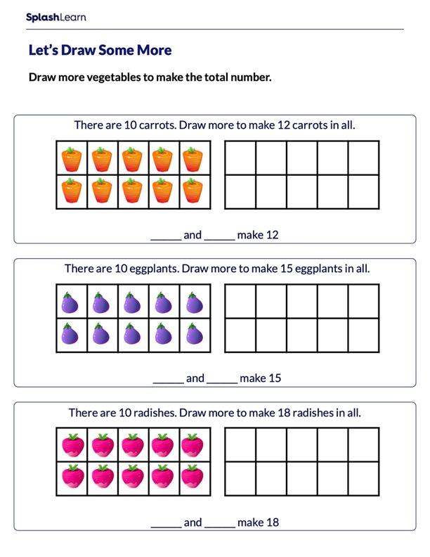 Teen Numbers Using 10-frames