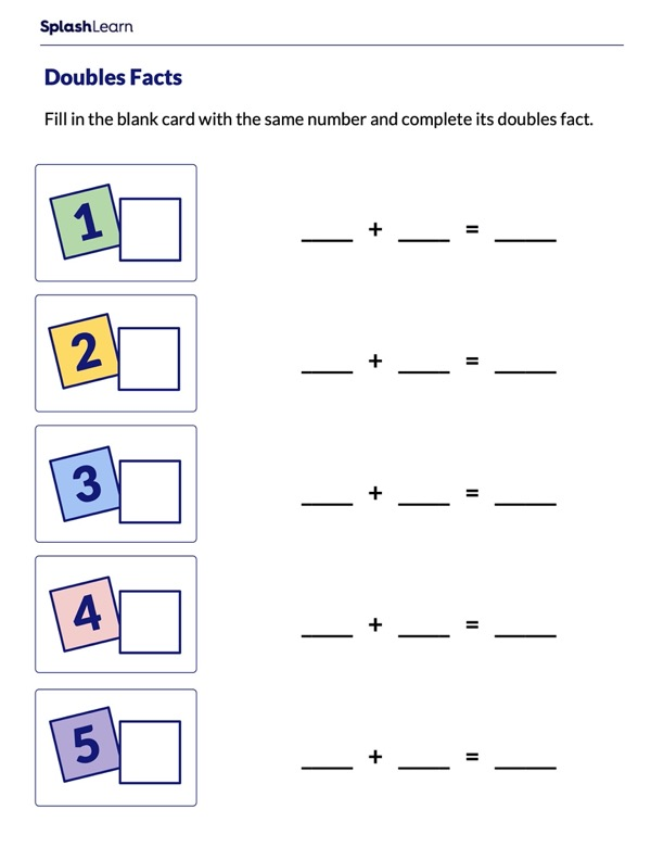 Finding Double of Numbers From 1 to 5
