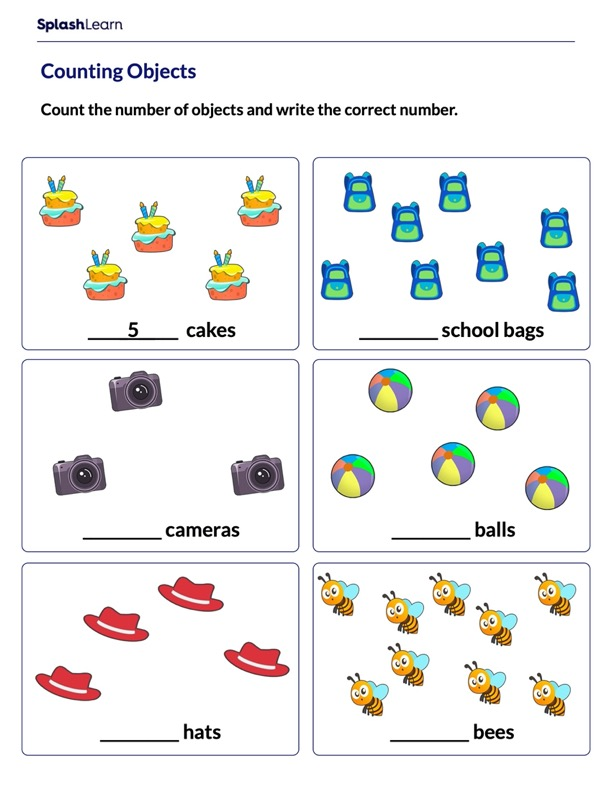 Counting Objects up to 10
