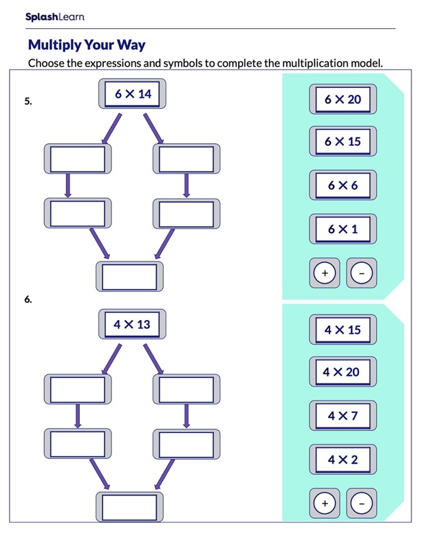 Complete the Multiplication Model